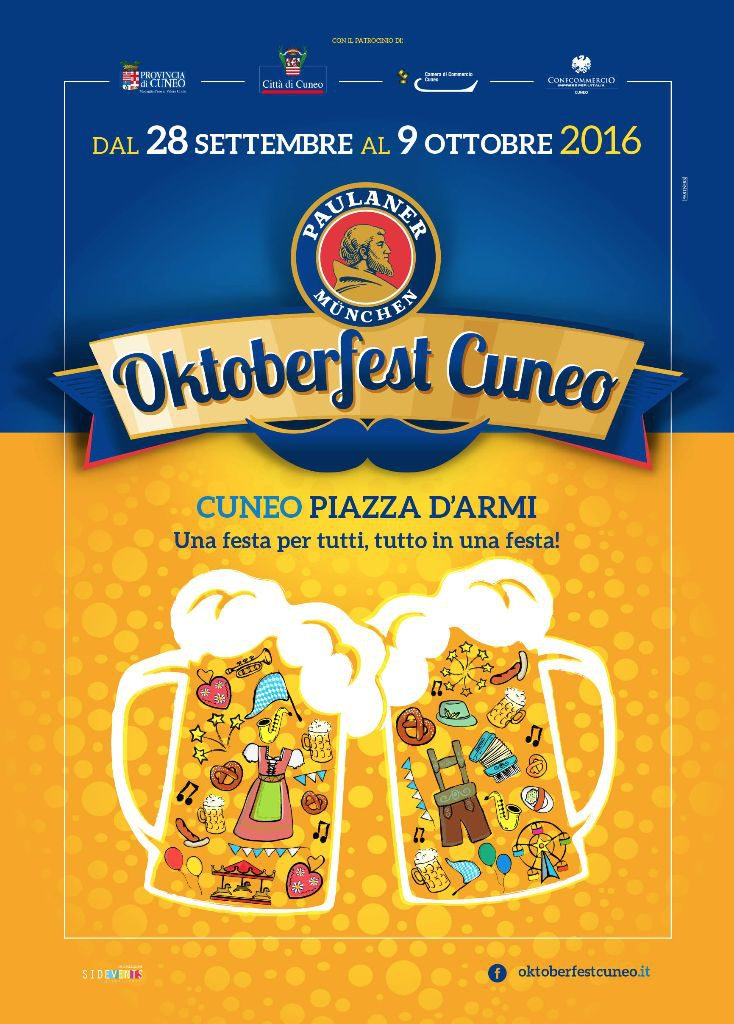 L'Oktoberfest si terrà a Cuneo a partire dal 28 settembre