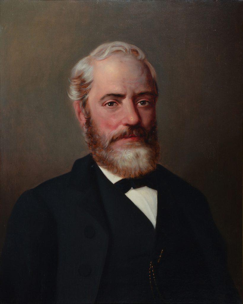 """Andrea Vinaj, """"Ritratto dell'avvocato Giuseppe Sciolla"""", olio su tela, XIX secolo"""