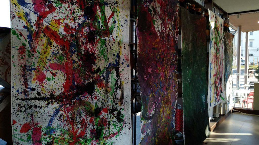 I lavori prodotti nei laboratori artistici esposti all'Open Baladin