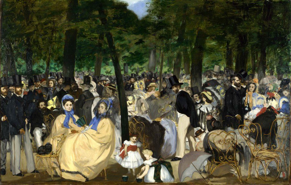 "L'opera di Manet ""Musica alle Tuileries"""