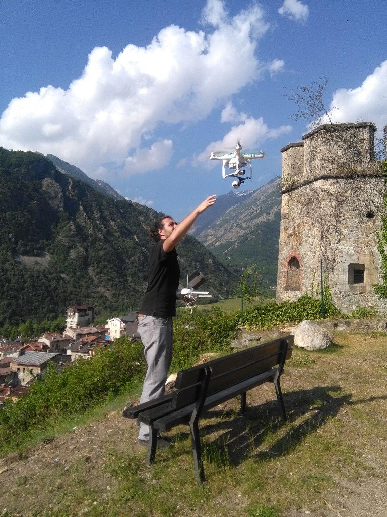 """Le riprese con il drone per il progetto """"Vinadio Virtual Reality"""""""