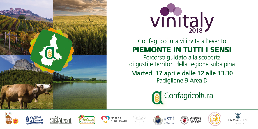"L'invito all'evento ""Piemonte in tutti i sensi"""
