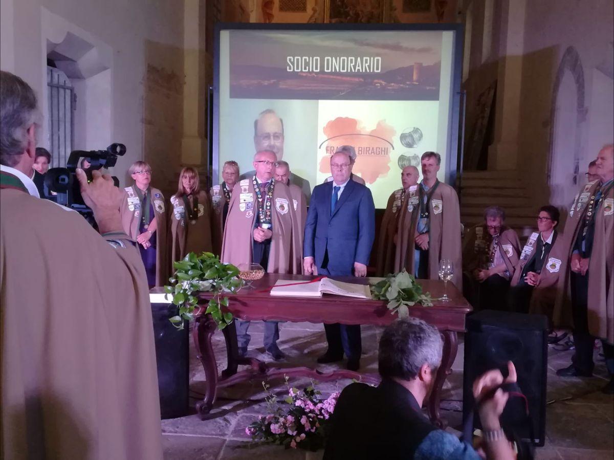 Nomina Biraghi Socio Onorario della Confraternita della Nocciola Tonda Gentile di Langa