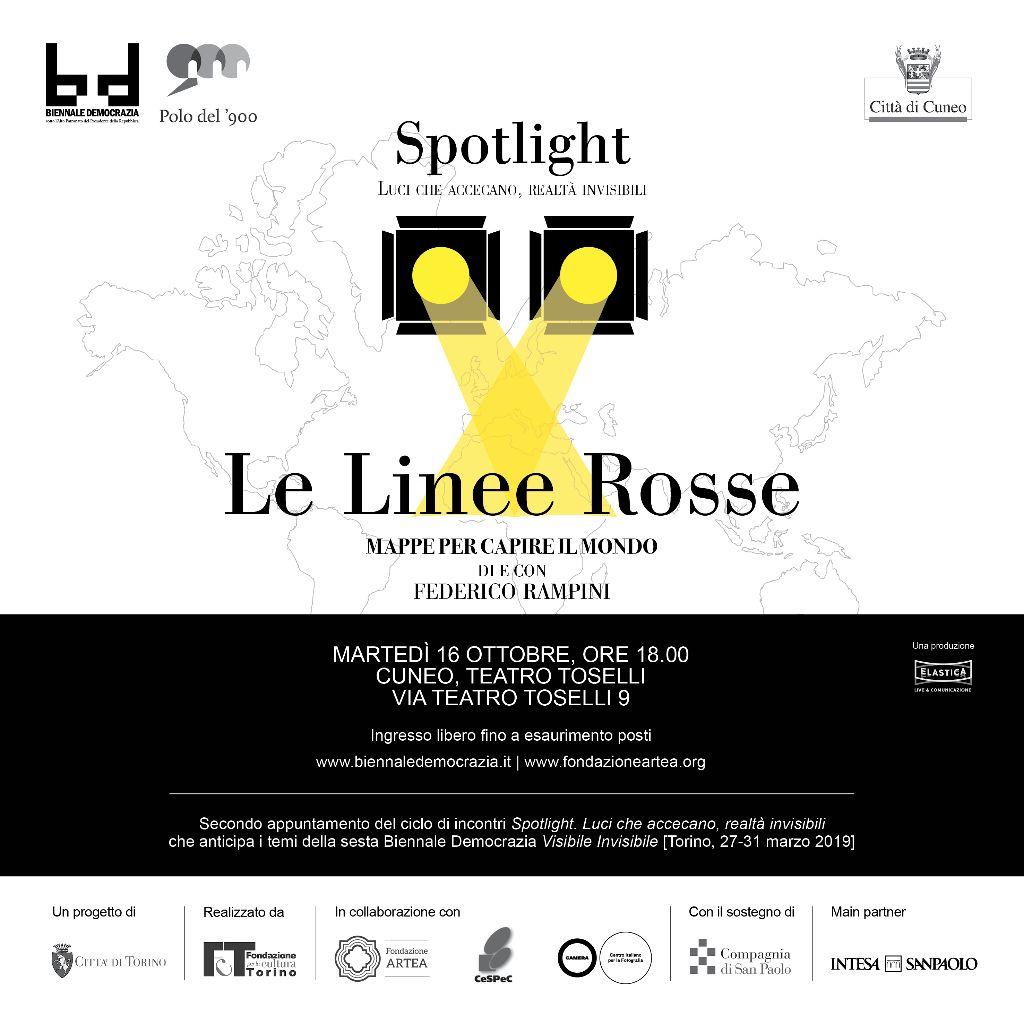 """L'invito all'incontro """"Le Linee Rosse"""" con Federico Rampini"""