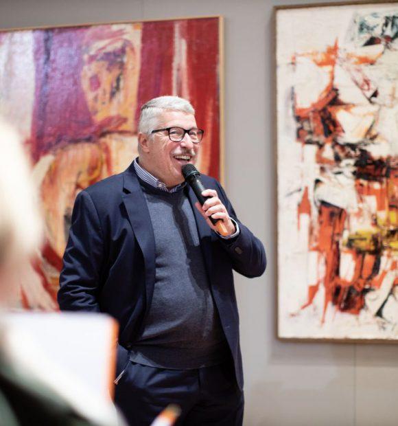 Il curatore della mostra e direttore della GAM di Torino Riccardo Passoni