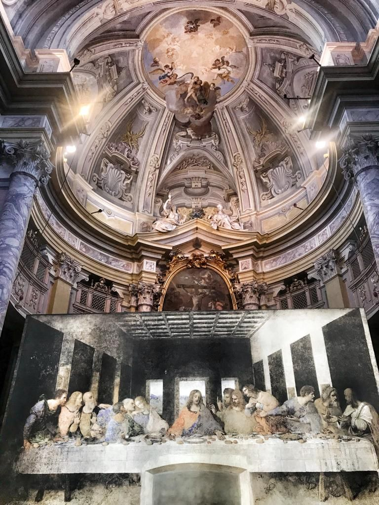 La riproduzione del Cenacolo nella chiesa dei Battuti Rossi