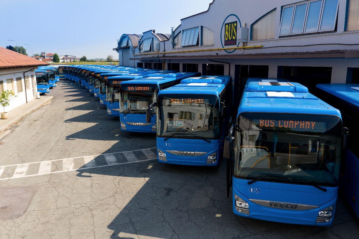 La flotta degli autobus della Bus Company