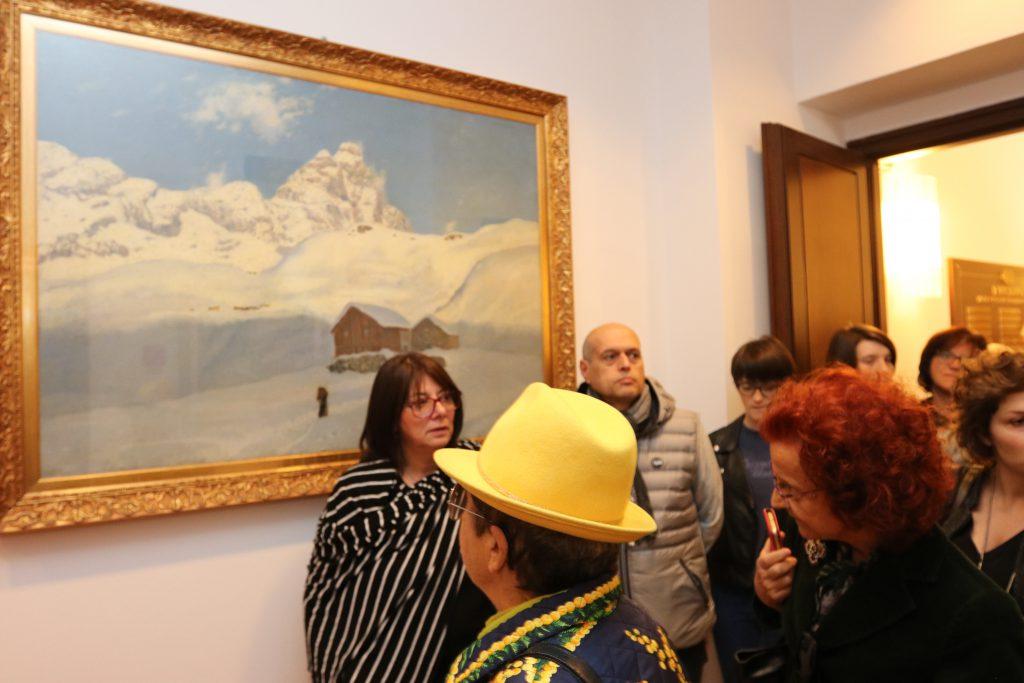 Alcuni visitatori a Palazzo Vitale
